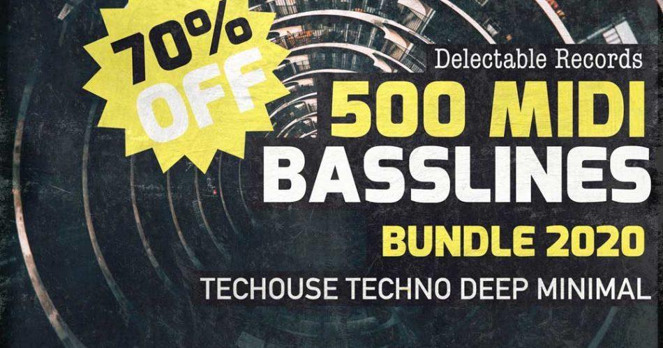 Delectable Records 500 MIDI Basslines Bundle