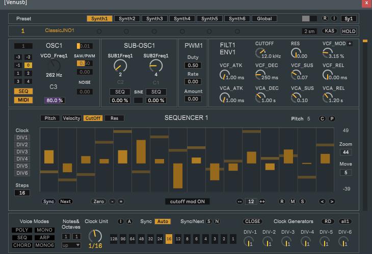 J74 Venus6 Synthesizer