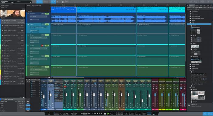 PreSonus Studio One 5 show page overview