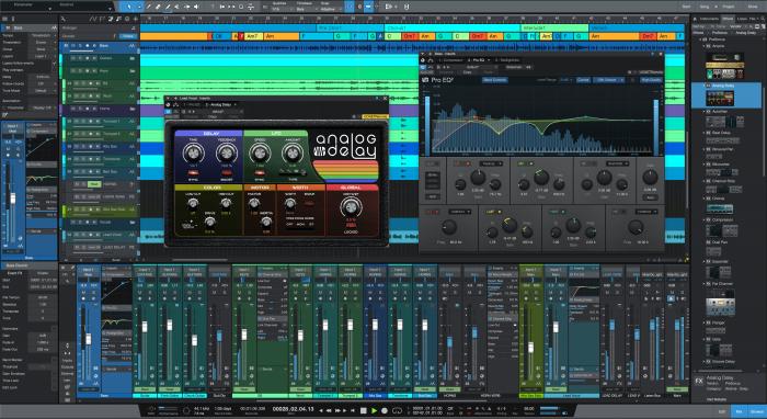 PreSonus Studio One 5 song mix plugins