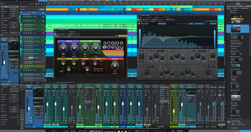PreSonus StudioOne 5 song mix plugins