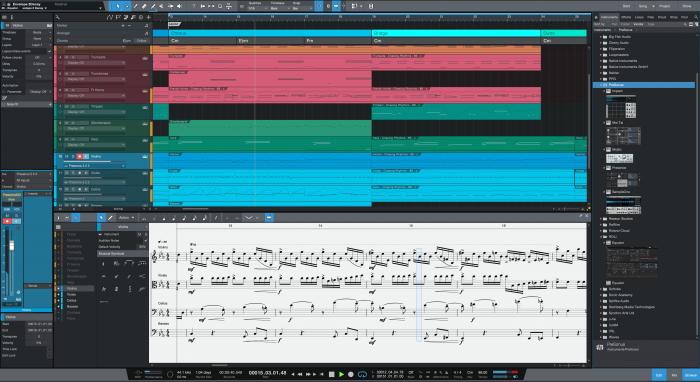 PreSonus Studio One 5 song mix score