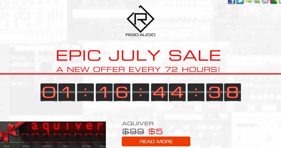 Rigid Audio Epic July Sale