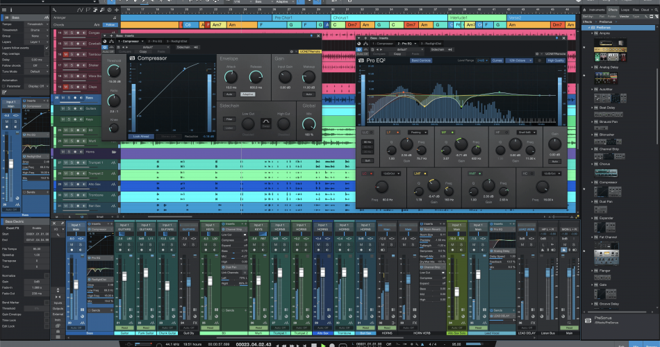 Splice Studio One 5 Pro Song Page