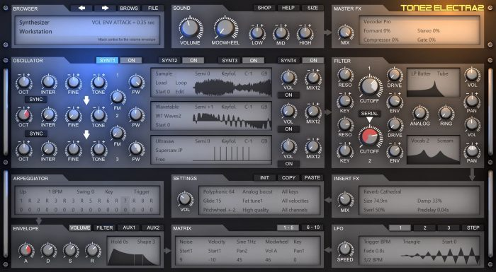 Tone2 Electra 2.8 screenshot