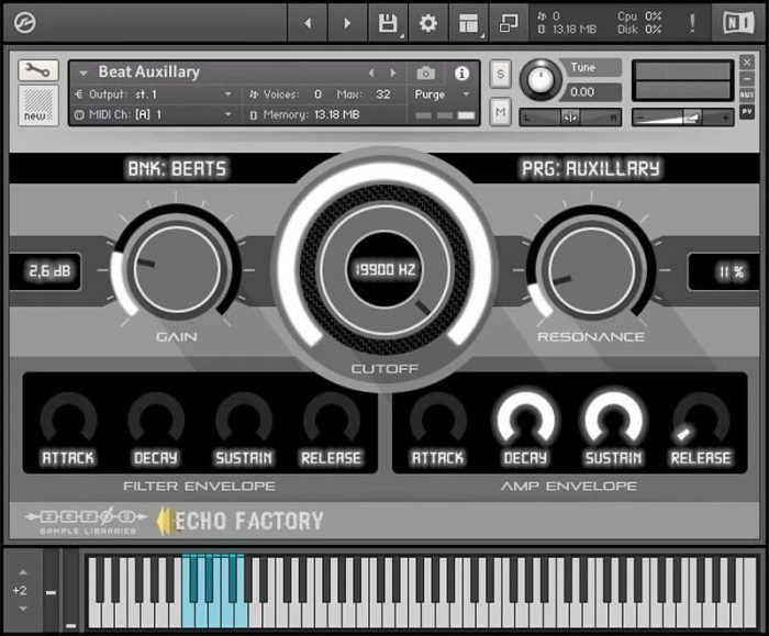 Zero-G Echo Factory Dubtechno Mechanisms 1 GUI