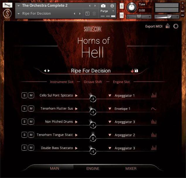 Sonuscore Horns of Hell GUI