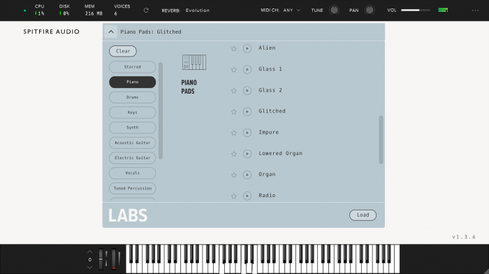 Sptifre Audio LABS Piano Pads