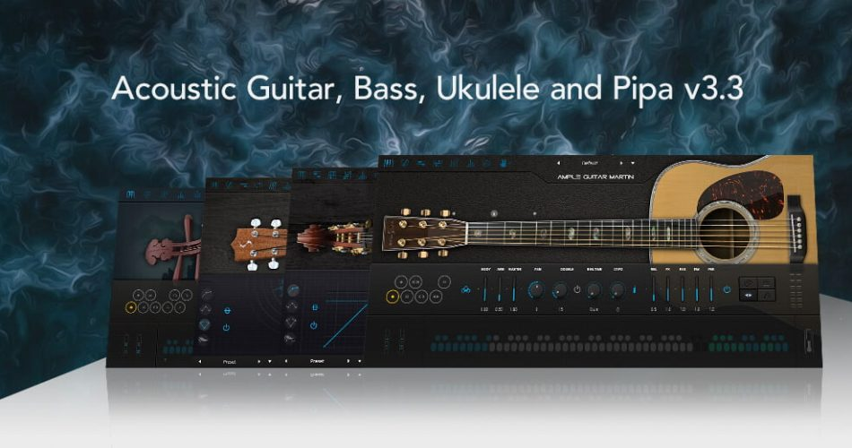 Ample Sound Acoustic Guitar, Bass, Ukulele and Pipa 3.3
