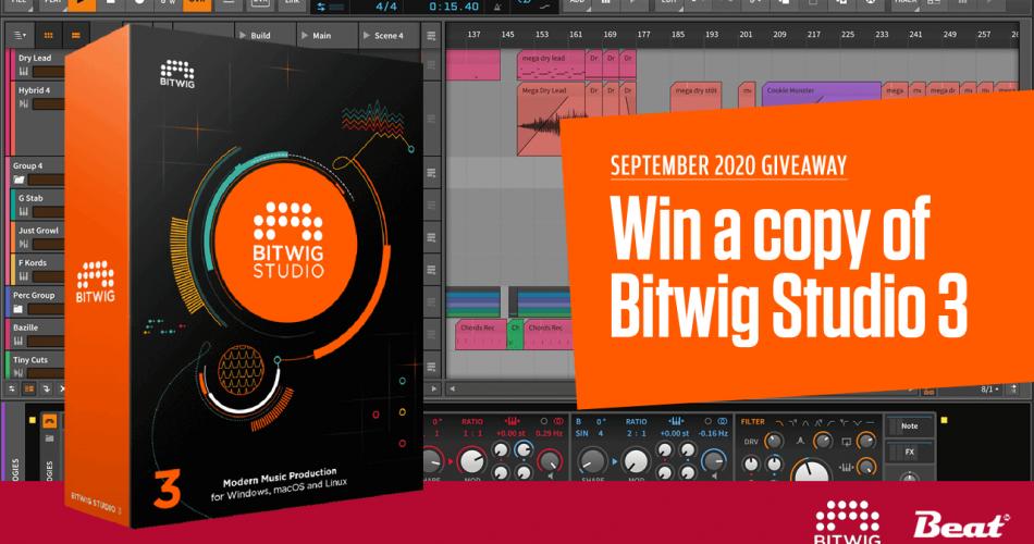 Beat Bitwig Studio Giveaway September