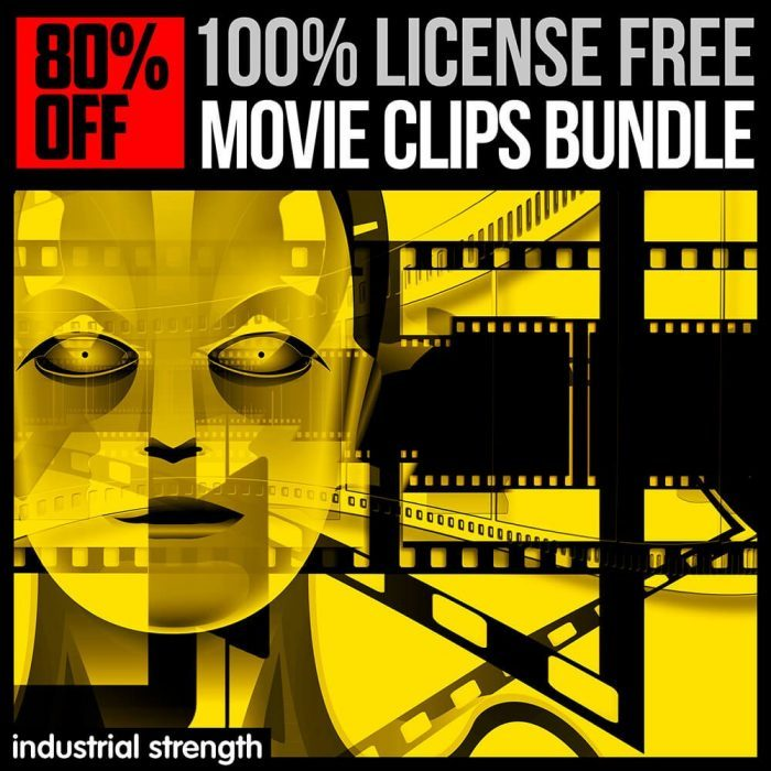 Industrial Strength 100 License Free Movie Clips Bundle