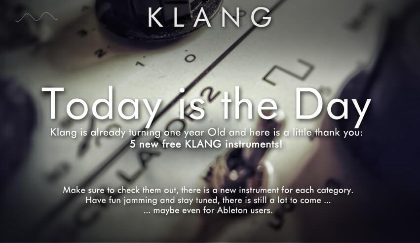 Klang 1 year