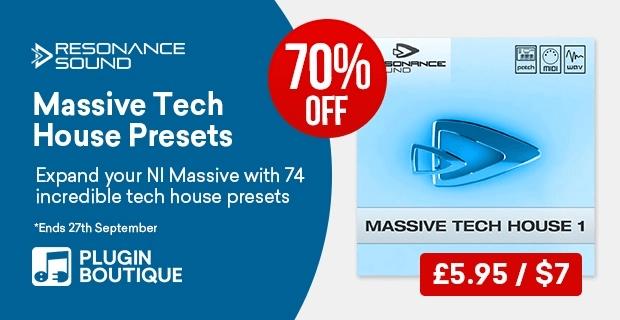 Resonance Sound Massive Tech House 70% off