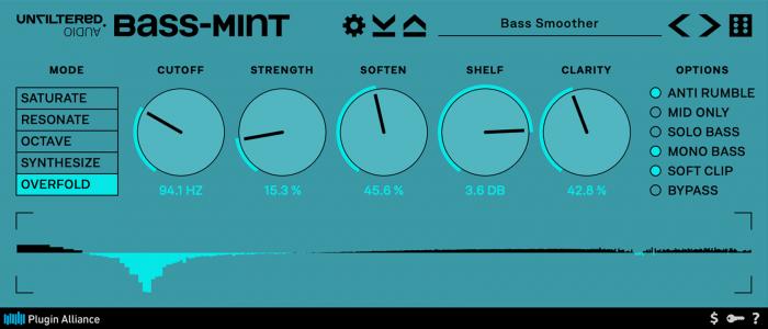 Unfiltered Audio Bass Mint GUI