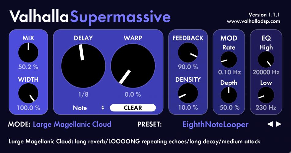 Valhalla Super Massive 1.1.1 beta