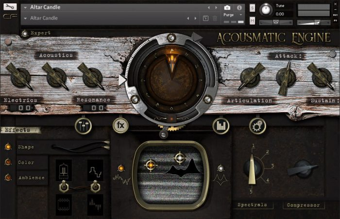 Cymatic Form Acousmatic Engine GUI