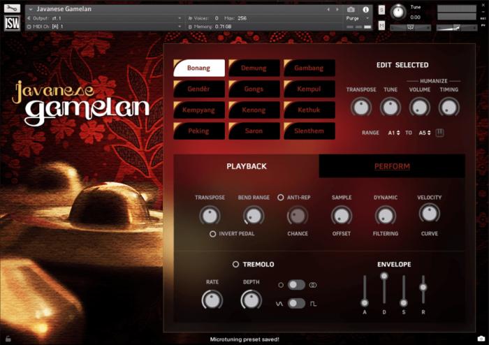 Impact Soundworks Javanese Gamelan GUI