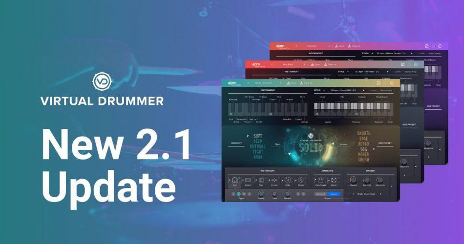 UJAM Virtual Drummer 2.1 update