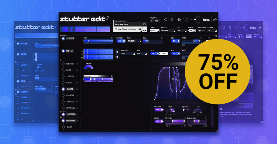 Save 75% on iZotope Stutter Edit 2 effect plugin, on sale for $49 USD!