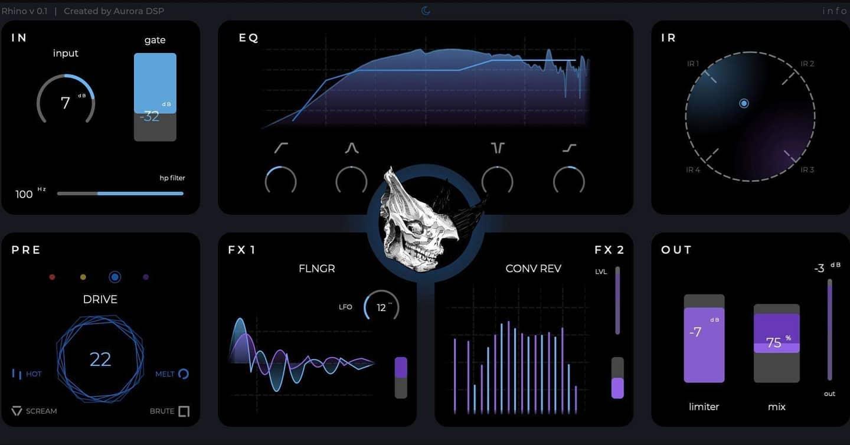 Aurora DSP announces Rhino Massive Guitar Plugin pre-order