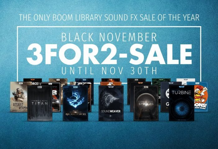 BOOM November 3for2 Sale