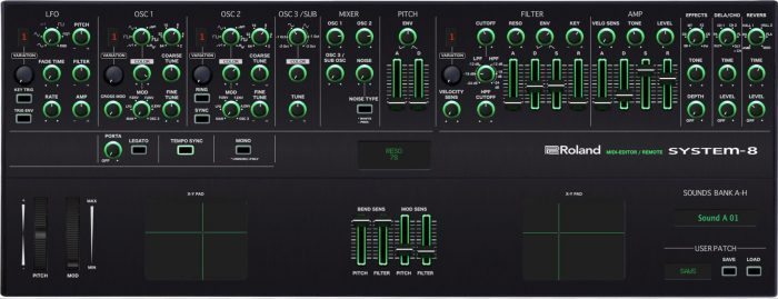 Momo roland system 8 editor and sound bank vst and standalone