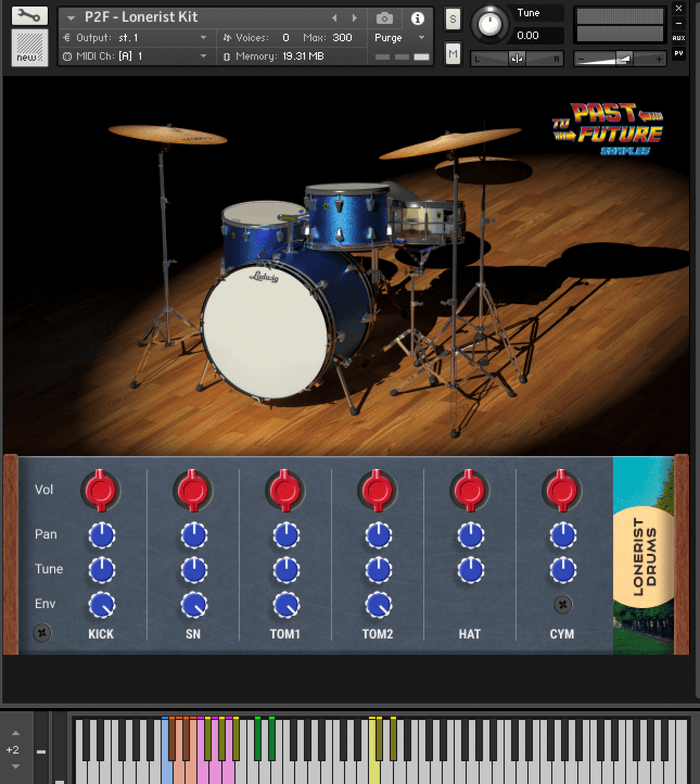 Past To Future Lonerist Drums GUI