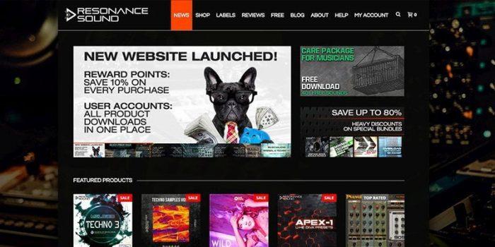 Resonance Sound website