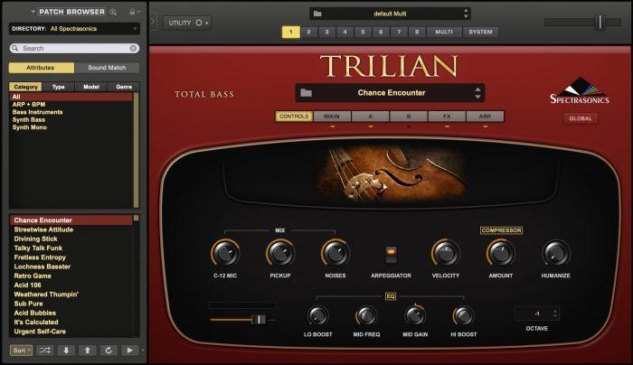 Spectrasonics Trilian1.5 GUI