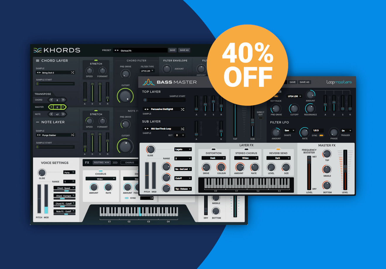 Save 40% on Loopmasters Bass Master, Khords & Expansion Packs