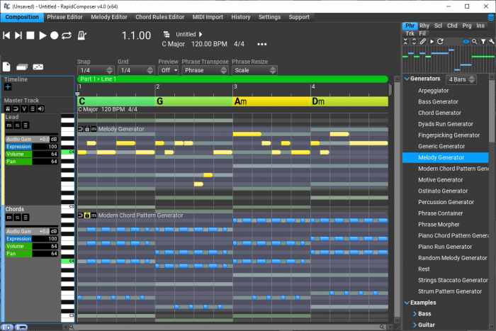 MusicDevelopments RapidComposer smartphrases