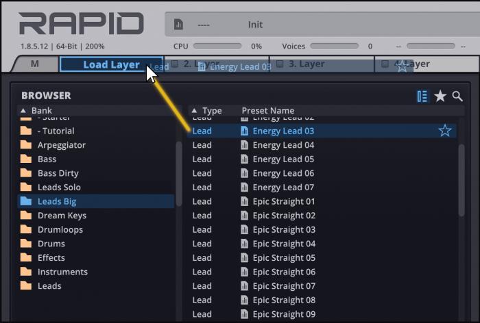 Rapid layer loading