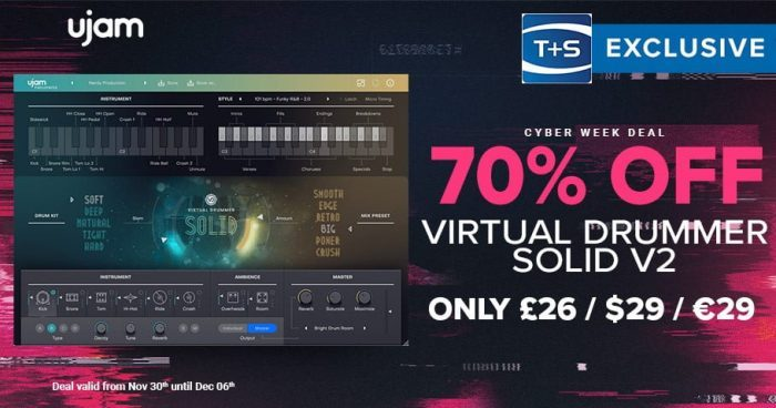 TS UJAM virtual drummer solid sale