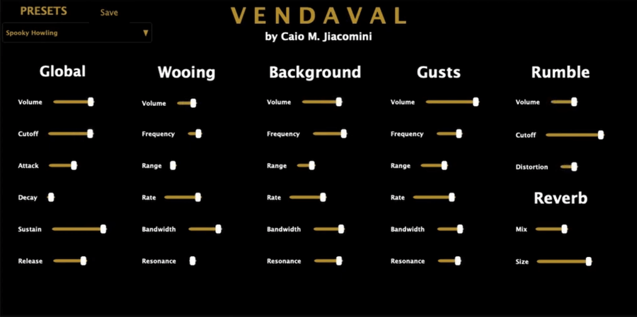 Vendaval wind synth