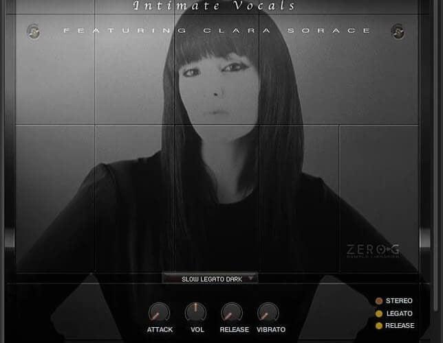 Zero G Ethera Gold Intimate Vocals GUI