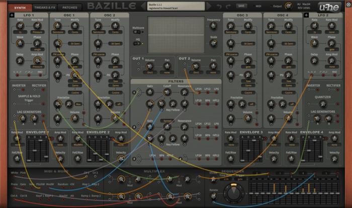 Bazille modular synth