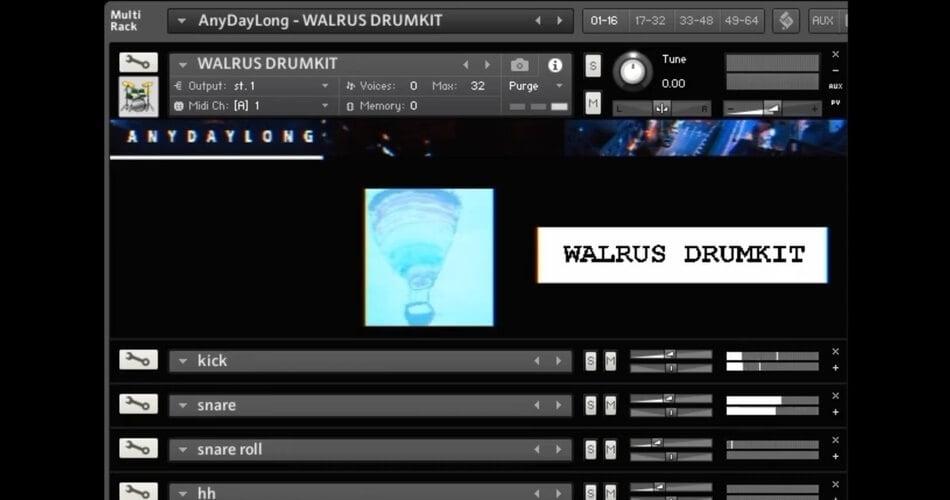 AnyDayLong Walrus 67 Drumkit