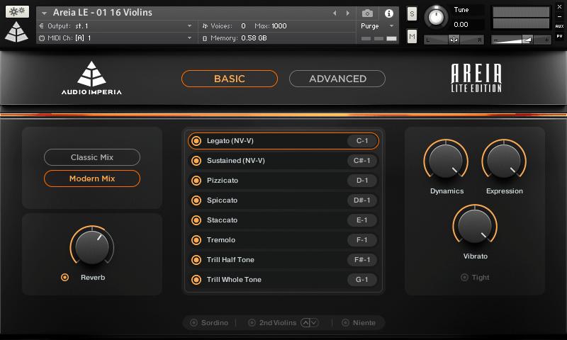 Audio Imperia Areia Lite Edition GUI