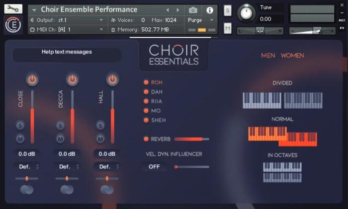 Strezov Choir Essentials GUI