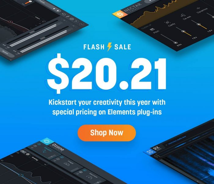 iZotope Elements series plugins $20.21 USD each