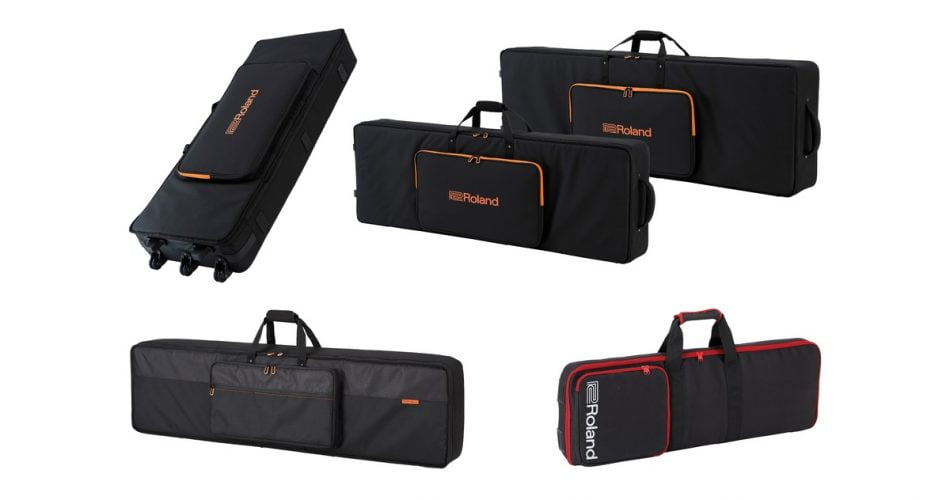 Roland SC CB Keyboard Bags Collage