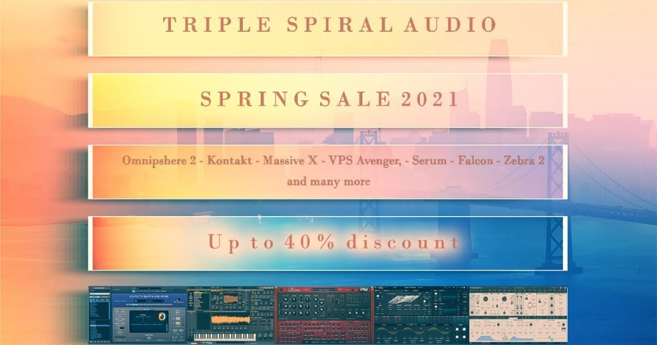 Triple Sprial Audio Spring Sale