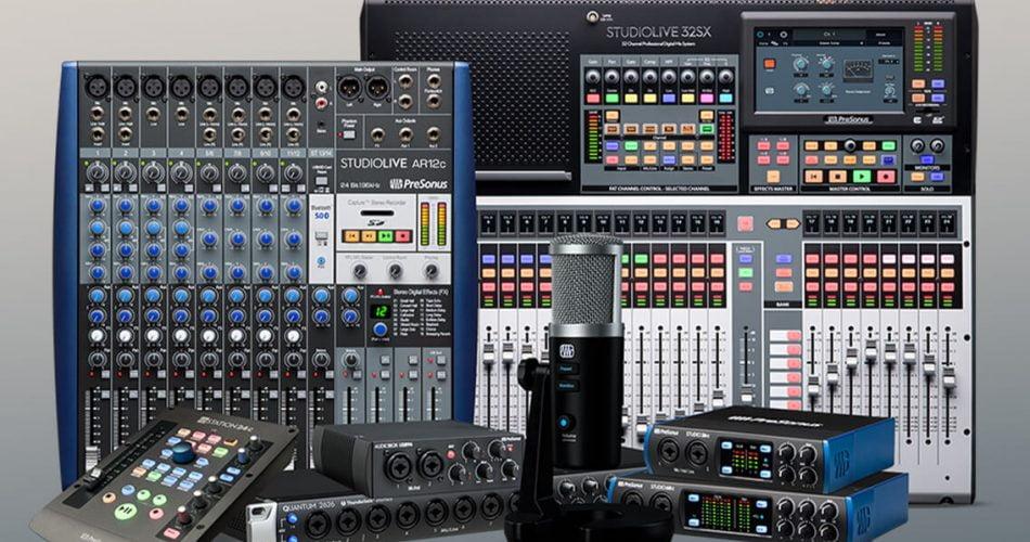 presonus mixers interfaces