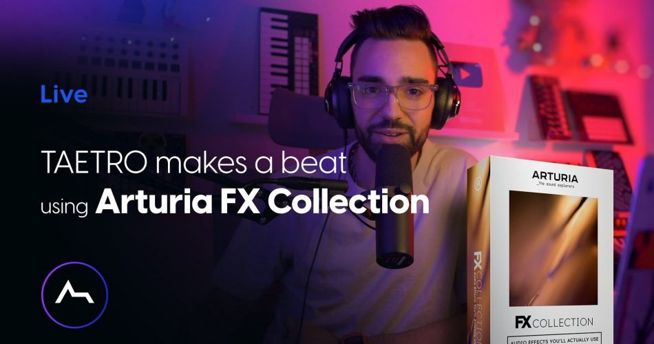 ADSR Arturia FX Collection livestream