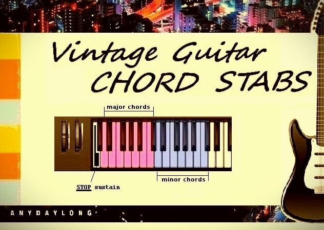 AnyDayLong Vintage Guitar Chord Stabs
