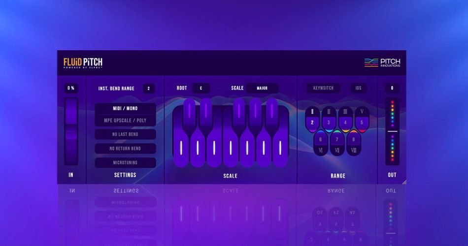 Fluid Pitch next-generation MIDI pitch bend plugin on sale for $39 USD
