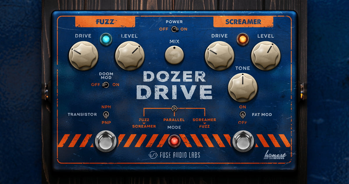 Dozer Drive fuses two iconic guitar pedals into a single plugin