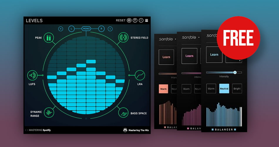 Mastering The Mix Levels Sonible Balancer FREE with purchase