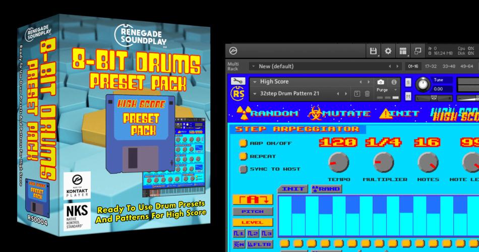 Renegade Soundplay 8 Bit Drums Preset Pack