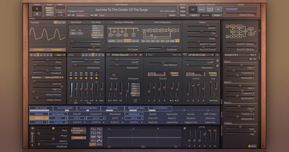Surge synthesizer updated with new oscillator types, effects & more in v1.9